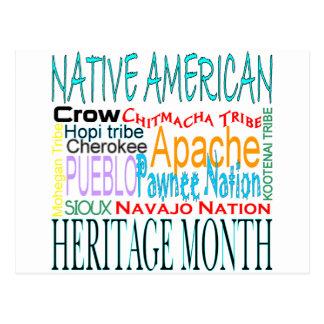 Mes de la herencia del nativo americano postales