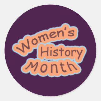 Mes de la historia de las mujeres pegatina redonda