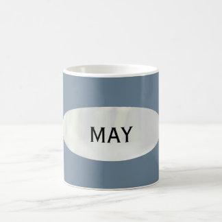 Mes de la taza de café del gris de pizarra de mayo