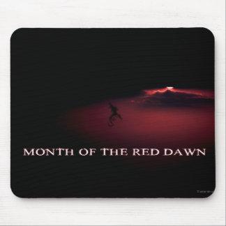 Mes del amanecer rojo - enero - Cedric Mousepads