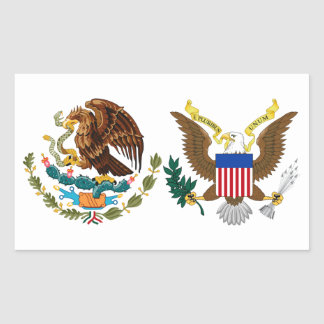 Mes hispánico nacional de la herencia - Eagles Pegatina Rectangular