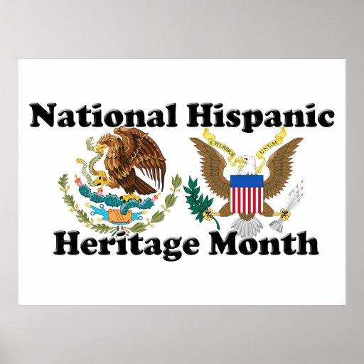Mes hispánico nacional de la herencia - Eagles Póster