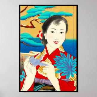 Mes japonés de los chicas de Onuma Chiyuki por el  Posters