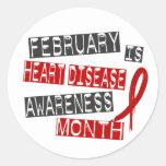 Mes L1 de la conciencia de la enfermedad cardíaca Etiqueta Redonda