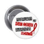 Mes L1 de la conciencia de la enfermedad cardíaca Pins