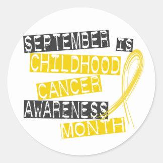 Mes L1 de la conciencia del cáncer de la niñez Pegatinas Redondas