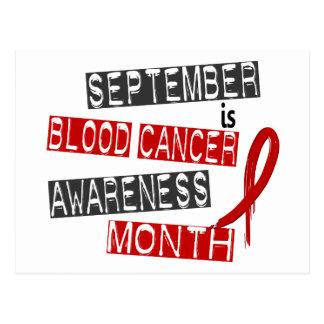 Mes L1 de la conciencia del cáncer de sangre Postales