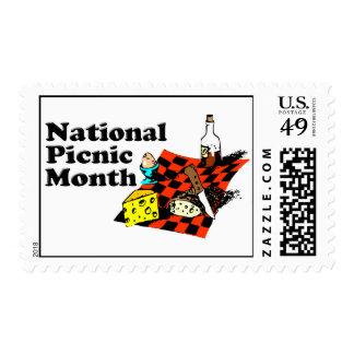 Mes nacional de la comida campestre sello postal
