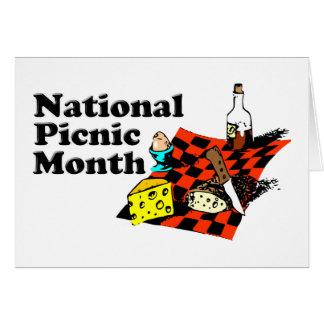 Mes nacional de la comida campestre tarjeta de felicitación