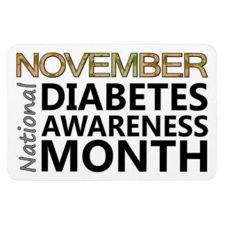 Mes nacional de la conciencia de la diabetes de imán foto rectangular