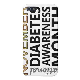 Mes nacional de la conciencia de la diabetes de iPhone 5 fundas
