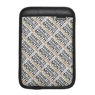 Mes nacional de la conciencia de la diabetes de no fundas para iPad mini