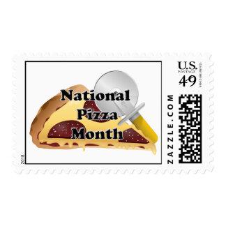 Mes nacional de la pizza estampilla