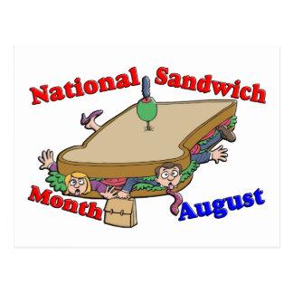 Mes nacional del bocadillo de agosto postal