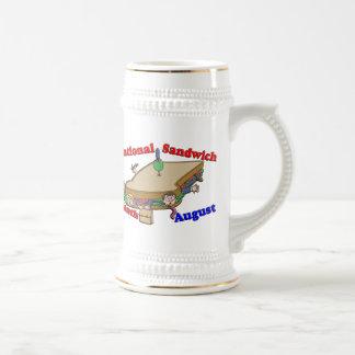 Mes nacional del bocadillo de agosto jarra de cerveza