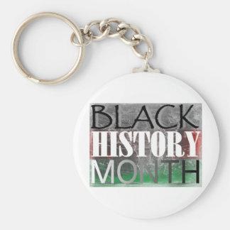 Mes negro de la historia (bandera africana) llaveros personalizados