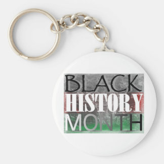 Mes negro de la historia (bandera africana) llavero redondo tipo pin
