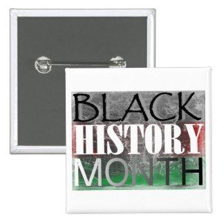 Mes negro de la historia (bandera africana) pin cuadrado