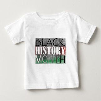 Mes negro de la historia (bandera africana) playera de bebé