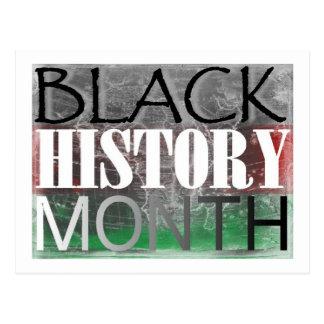 Mes negro de la historia (bandera africana) postal