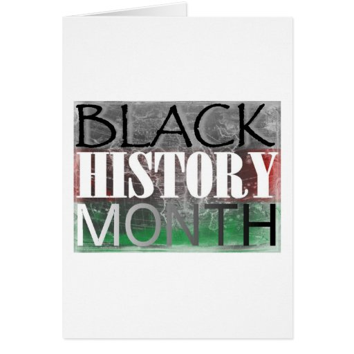 Mes negro de la historia (bandera africana) tarjeta de felicitación