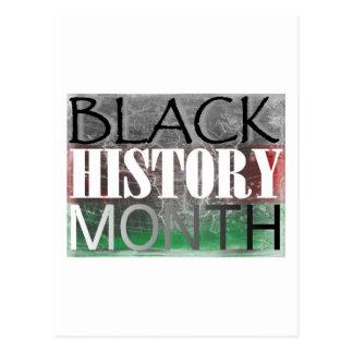 Mes negro de la historia (bandera africana) tarjeta postal