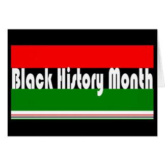 Mes negro de la historia tarjeta de felicitación