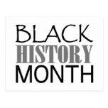 Mes negro de la historia tarjeta postal