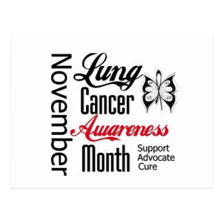 Mes noviembre de la conciencia del cáncer de tarjeta postal