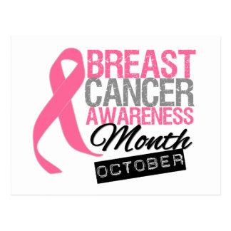 Mes octubre de la conciencia del cáncer de pecho postal