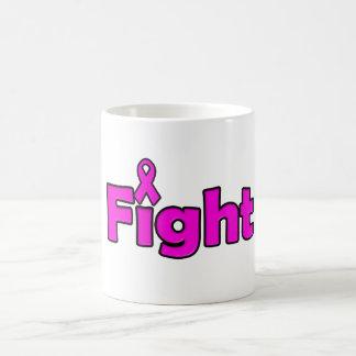 Mes rosado del cáncer de pecho de la taza de café