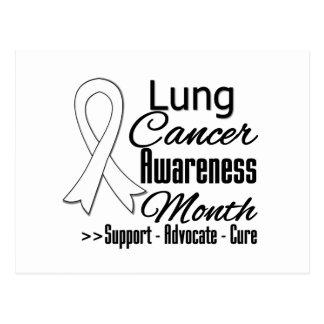 Mes v3 de la conciencia del cáncer de pulmón postal