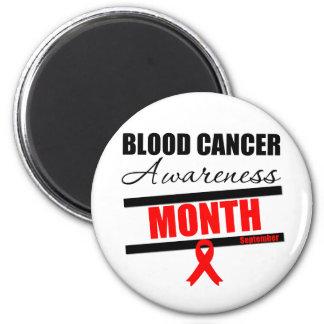 Mes v7 de la conciencia del cáncer de sangre imán redondo 5 cm