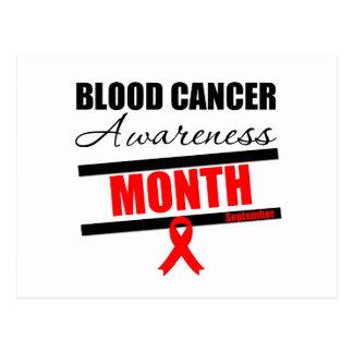 Mes v7 de la conciencia del cáncer de sangre postal