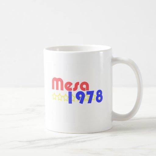 Mesa 1978 taza de café