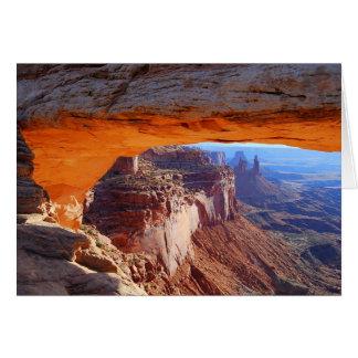Mesa Arch Sunrise Utah Card