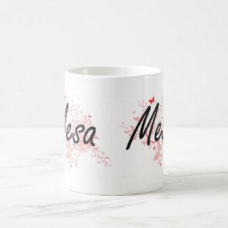 Mesa Arizona City Artistic design with butterflies Coffee Mug
