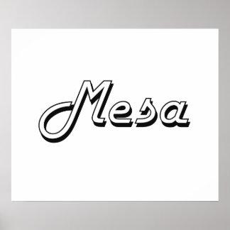 Mesa Arizona Classic Retro Design Poster