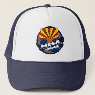 Mesa Arizona flag burst trucker hat
