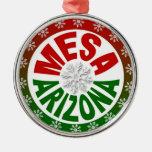 Mesa Arizona red green snowflake ornament