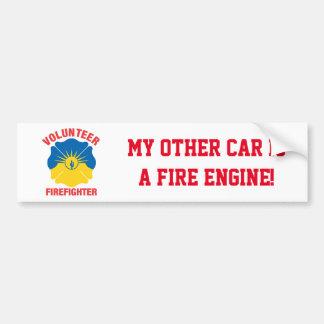 Mesa, AZ Flag Volunteer Firefighter Cross Bumper Sticker