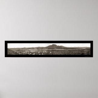 Mesa AZ Reef Aqueduct Photo 1908 Poster