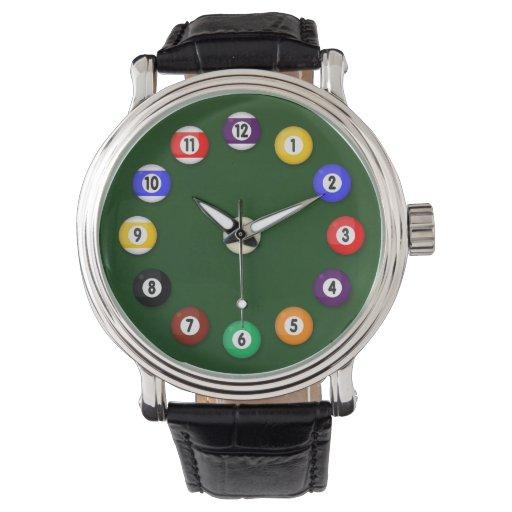 Mesa de billar - reloj