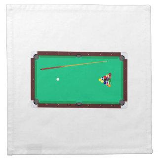 Mesa de billar servilletas de papel