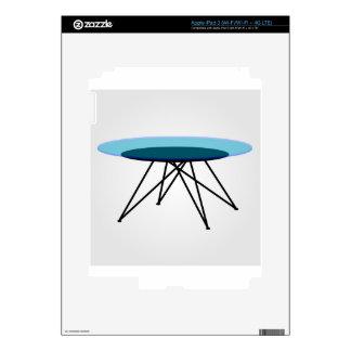 Mesa de centro de cristal moderna iPad 3 pegatinas skins