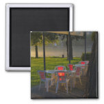 Mesa de comedor y sillas por el río Danubio, Imanes De Nevera