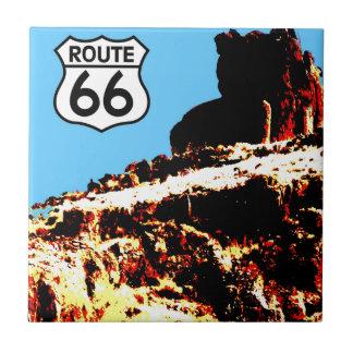 Mesa de la ruta 66 salvaje azulejo cuadrado pequeño
