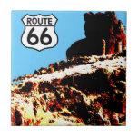 Mesa de la ruta 66 salvaje azulejos ceramicos