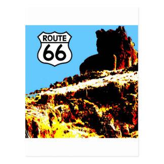 Mesa de la ruta 66 salvaje postal