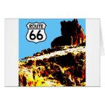 Mesa de la ruta 66 salvaje tarjetas